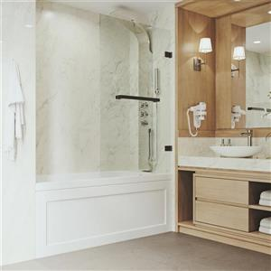 VIGO Orion Glass Bathtub Door - Clear/Bronze