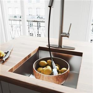 VIGO Oakhurst LED Pull-Down Kitchen Faucet With Deck Plate