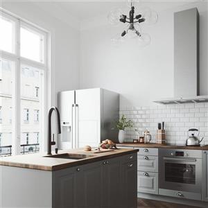 VIGO Greenwich Pull-Down Spray Kitchen Faucet - Matte Black