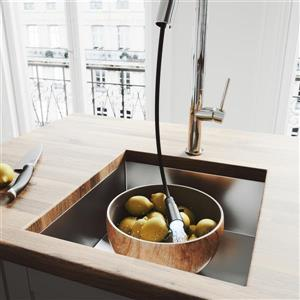 VIGO Oakhurst LED Pull-Down Kitchen Faucet - Chrome