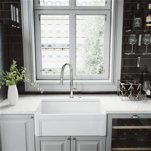 VIGO Greenwich Pull-Down Spray Kitchen Faucet - Chrome