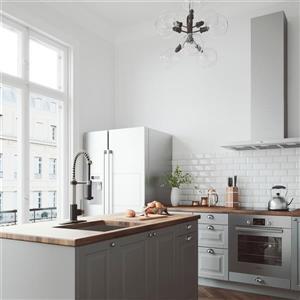 VIGO Edison Pull-Down Spray Kitchen Faucet With Deck Plate