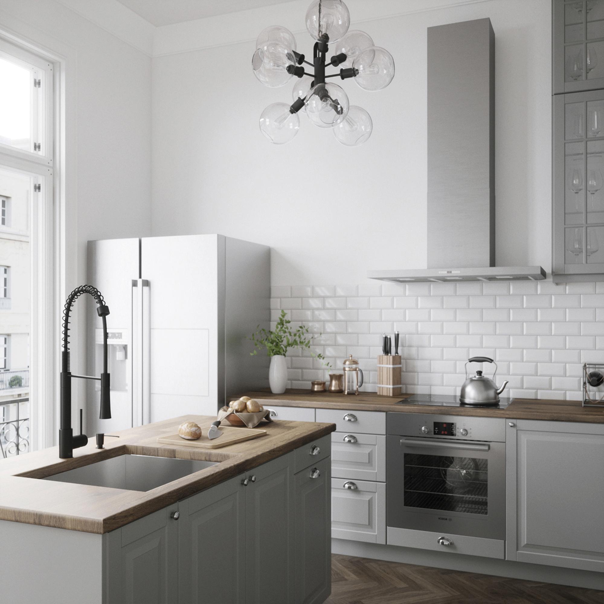Vigo Laurelton Pull Down Spray Kitchen Faucet In Matte Black vigo laurelton pull-down spray kitchen faucet - matte black
