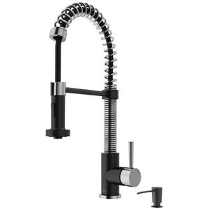 VIGO Edison Pull-Down Spray Kitchen Faucet - Multicoloured