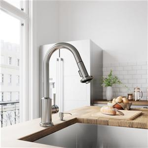 VIGO Astor Pull-Down Spray Kitchen Faucet - Stainless