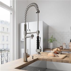 VIGO Zurich Pull-Down Spray Kitchen Faucet - Stainless