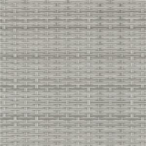 "CorLiving Resin Wicker Patio Ottoman -  Grey / Light Grey - 32"" x 32"""