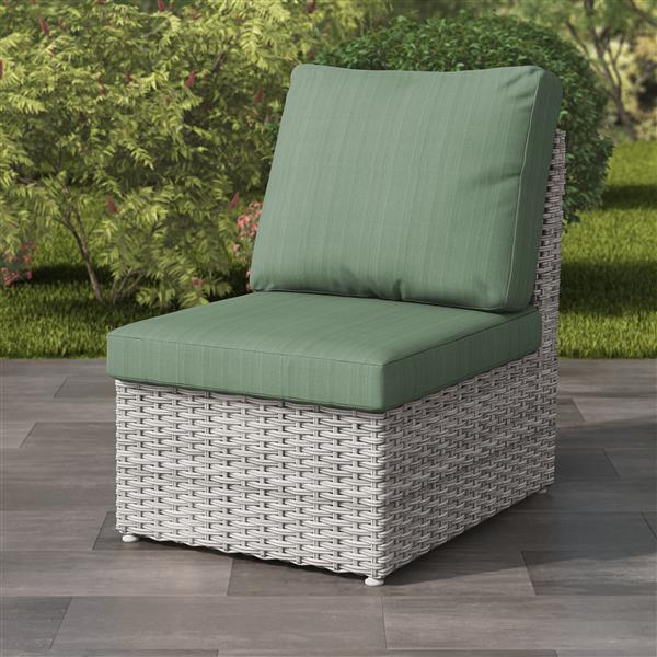 Corliving Blended Grey Resin Wicker, Plastic Wicker Patio Furniture