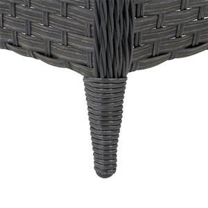 "CorLiving Rattan Patio Foot Stool - Charcoal - 23"" x 29"""