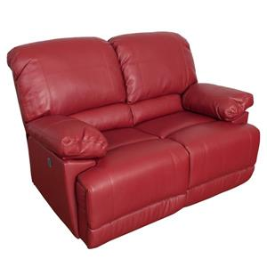 CorLiving Bonded Leather Power Recliner Sofa Set 2pc - Red