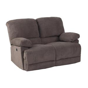CorLiving Chenille Fabric Power Recliner Sofa Set 2pc - Grey