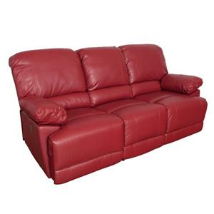 CorLiving Bonded Leather Power Recliner Sofa Set 3pc - Red