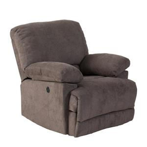 CorLiving Chenille Fabric Power Recliner Sofa Set 3pc - Grey