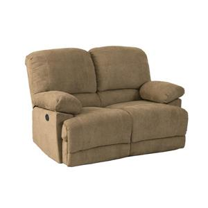 CorLiving Brown Chenille Fabric Power Reclining Loveseat
