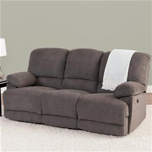 CorLiving Grey Chenille Fabric Power Reclining Sofa