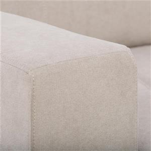 CorLiving Beige Tufted Chenille Fabric Sofa