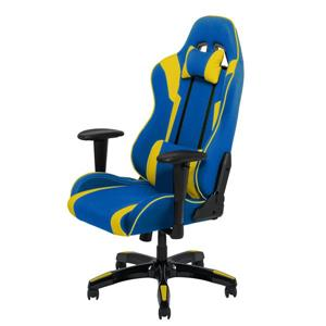 CorLiving High Back Ergonomic Gaming Chair - Blue and Yellow