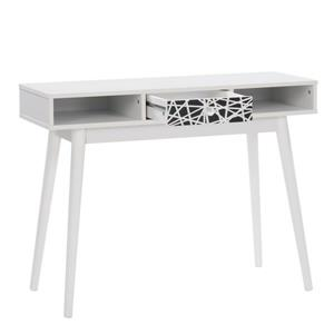 CorLiving Entryway Desk with Drawer and Cubbies, White