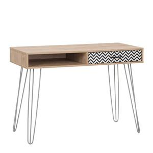 CorLiving Entryway Desk with Drawer and Cubby, Light Khaki