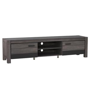 CorLiving TV Stand - Carbon Grey with Black  - TVs up to 90""