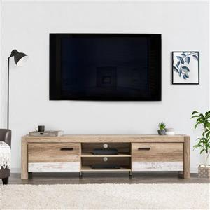 """CorLiving TV Stand - Warm Beige with White - TVs up to 90"""""""