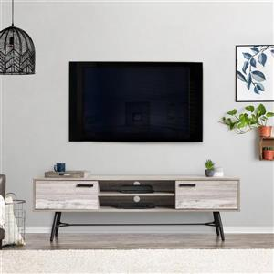 CorLiving TV Stand - Grey with White - TVs up to 80""