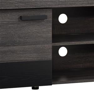 CorLiving TV Stand - Carbon Grey with Black - TVs up to 80""