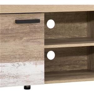 """CorLiving TV Stand - Warm Beige with White - TVs up to 80"""""""