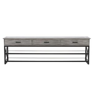 CorLiving TV Stand -Whitewash Grey - TVs up to 90""