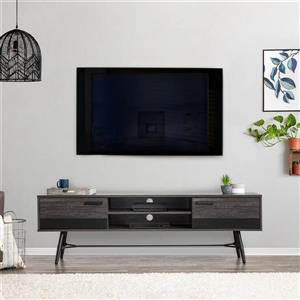 CorLiving TV Stand - Grey with Black - TVs up to 80""