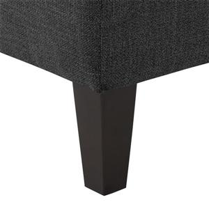 CorLiving Tufted Accent Bench - Dark Grey Fabric - 52""