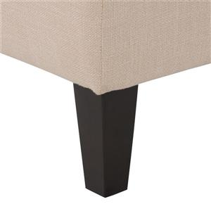 """CorLiving Tufted Accent Bench - Cream Fabric - 52"""""""