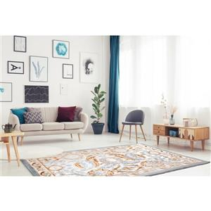 La Dole Rugs®  Abstract Traditional Area Rug - 8' x 11' - Beige/Blue