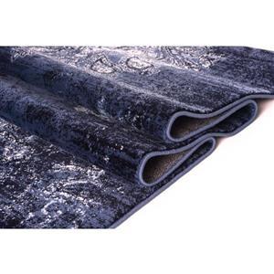 La Dole Rugs®  Anatolia Traditional Area Rug - 4' x 5' - Navy/Ivory