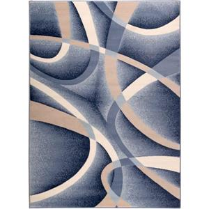 La Dole Rugs®  Anatolia Abstract Geometric Area Rug - 4' x 5' - Blue/Beige