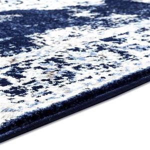 La Dole Rugs®  Anatolia European Area Rug - 5' x 7' - Ivory/Navy Blue
