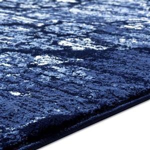 La Dole Rugs®  Anatolia Classic Vintage Area Rug - 4' x 5' - Navy Blue