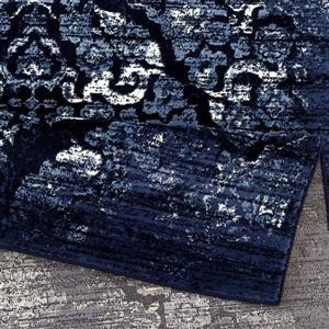 La Dole Rugs®  Anatolia Classic Vintage Area Rug - 5' x 7' - Navy Blue