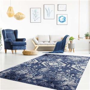 La Dole Rugs®  Anatolia Elegant Vintage Area Rug - 8' x 11' - Blue/Ivory