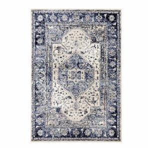 La Dole Rugs®  Anatolia European Rectangular Rug - 5' x 7' - Blue/Ivory