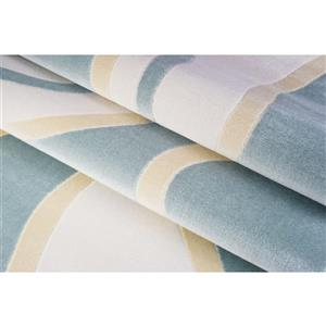 La Dole Rugs® Abstract Area Rug - 5' x 8' - Blue/White