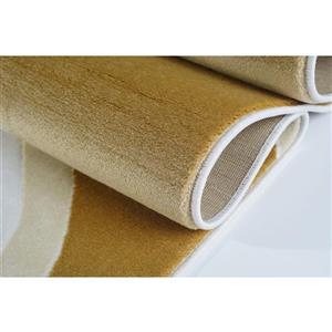 La Dole Rugs® Abstract Area Rug - 4' x 6' - Peach/Yellow