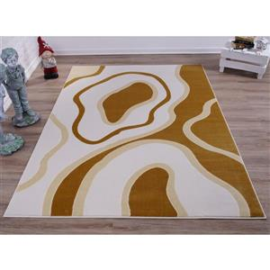 La Dole Rugs® Abstract Area Rug - 5' x 8' - Peach/Yellow