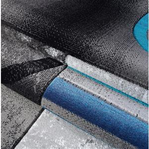 La Dole Rugs®  Adonis Geometric Rug - 7' x 10' - Black/Grey