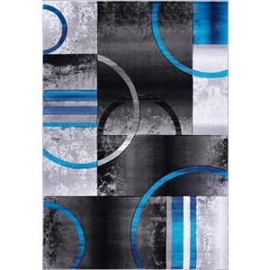 La Dole Rugs®  Adonis Geometric Rug - 8' x 11' - Black/Grey