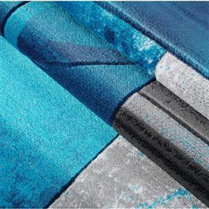 La Dole Rugs®  Adonis Geometric Area Rug - 8' x 11' - Turquoise/Black
