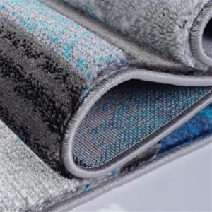 La Dole Rugs®  Adonis Geometric Area Rug - 4' x 6' - Turquoise/Black