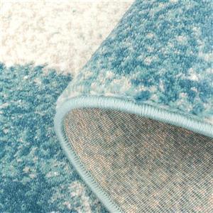 La Dole Rugs® Abstract Area Rug - 8' x 11' - Blue/Grey