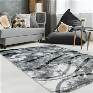 La Dole Rugs®  Abstract Contemporary Area Rug - 8' x 11' - Ivory/Grey