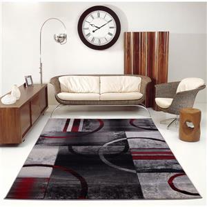 """La Dole Rugs®  Adonis Geometric European Area Rug - 1' 10"""" x 2' 11""""- Black"""